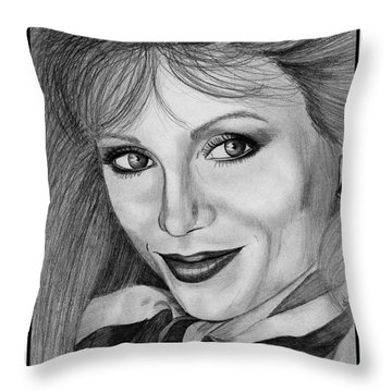 Victoria Principal In 1983 Throw Pillow by J McCombie