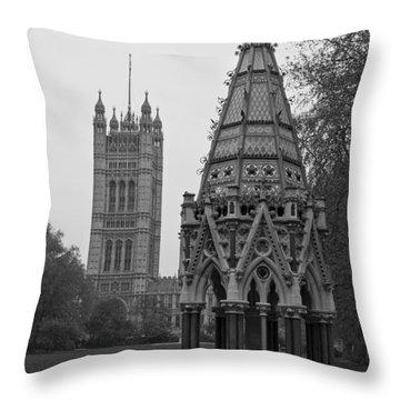 Throw Pillow featuring the photograph Victoria Tower Garden by Maj Seda
