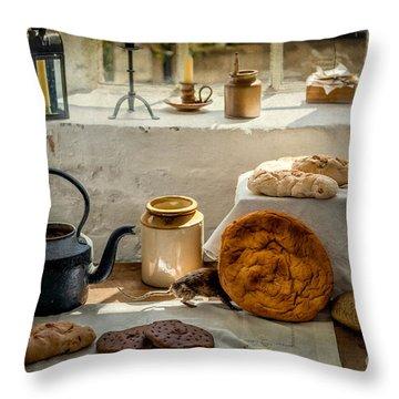 Victorian Bakery Throw Pillow