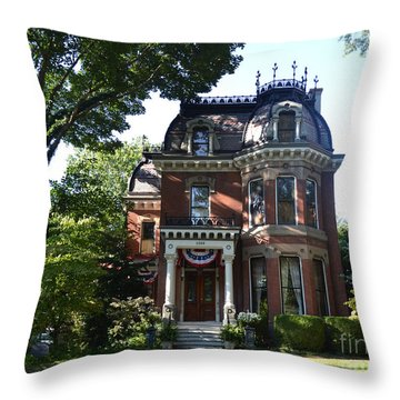 Victorian Beauty Throw Pillow by Luther Fine Art