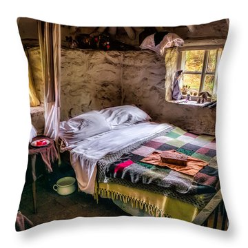 Victorian Bedroom Throw Pillow by Adrian Evans