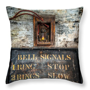 Victorian Bell Sign Throw Pillow by Adrian Evans