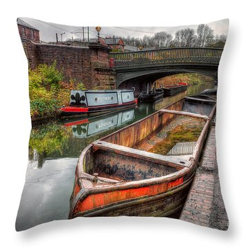 Victorian Canal Throw Pillow by Adrian Evans