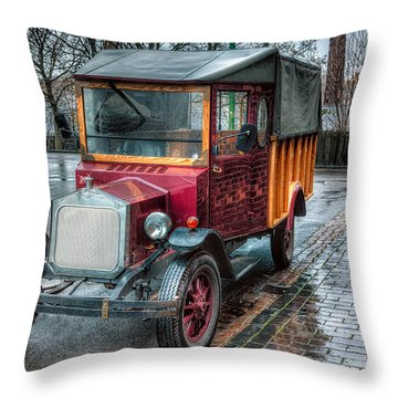 Victorian Car Replica  Throw Pillow by Adrian Evans