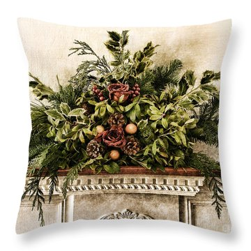 Victorian Christmas Throw Pillow by Olivier Le Queinec