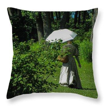 Victorian Damsel Throw Pillow