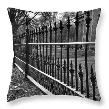 Victorian Fence Throw Pillow by Jane Linders
