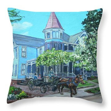Victorian Greenville Throw Pillow by Bryan Bustard