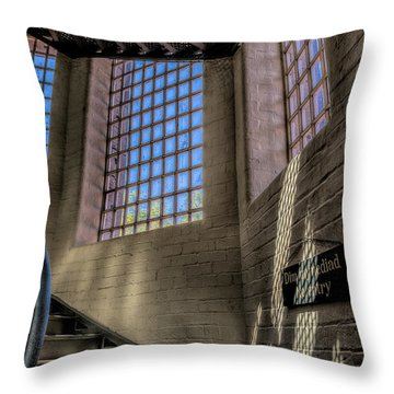 Victorian Jail Staircase Throw Pillow by Adrian Evans