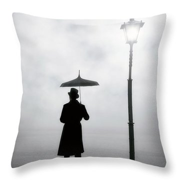 Victorian Man Throw Pillow
