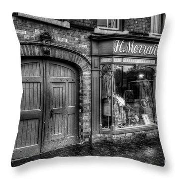 Victorian Menswear Throw Pillow by Adrian Evans