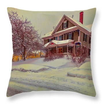 Throw Pillow featuring the photograph Victorian On Oak Street by Tom Singleton
