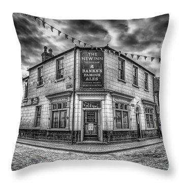 Victorian Pub Throw Pillow by Adrian Evans