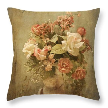 Victorian Rose Floral Throw Pillow