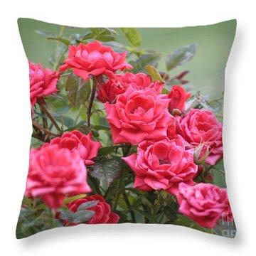 Victorian Rose Garden Throw Pillow by Carol Groenen