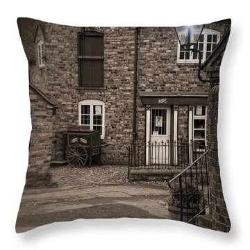 Victorian Stone House Throw Pillow by Amanda Elwell