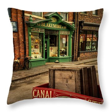 Victorian Town Throw Pillow