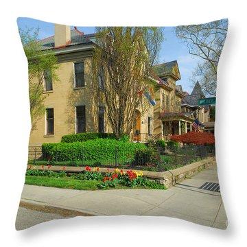 D47l-15 Victorian Village Photo Throw Pillow