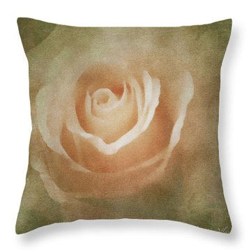 Victorian Vintage Pink Rose Throw Pillow
