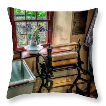 Victorian Wash Room Throw Pillow by Adrian Evans
