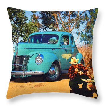 Victuals Throw Pillow by Timothy Bulone