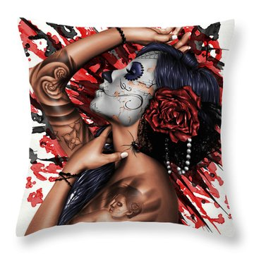 Vidas Angel Throw Pillow by Pete Tapang