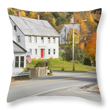 Vienna Maine In Fall Throw Pillow by Keith Webber Jr