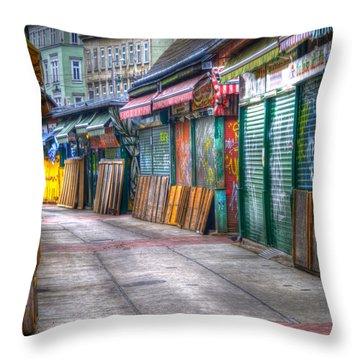 Vienna Naschmarkt Throw Pillow