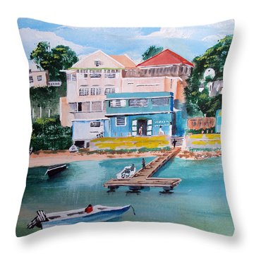 Vieques Puerto Rico Throw Pillow by Luis F Rodriguez