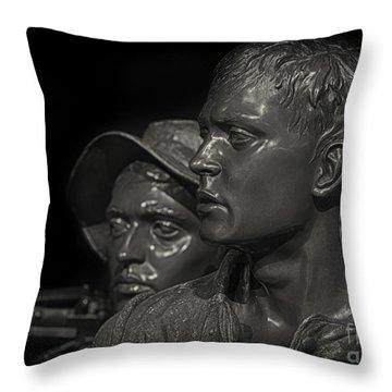 Vietnam Memorial No. 1 Throw Pillow by Jerry Fornarotto