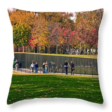 Vietnam Memorial Wall Throw Pillow