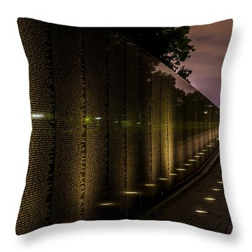 Vietnam Veterans Memorial Throw Pillow