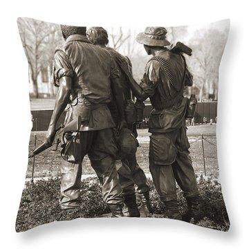 Vietnam Veterans Memorial - Washington Dc Throw Pillow by Mike McGlothlen