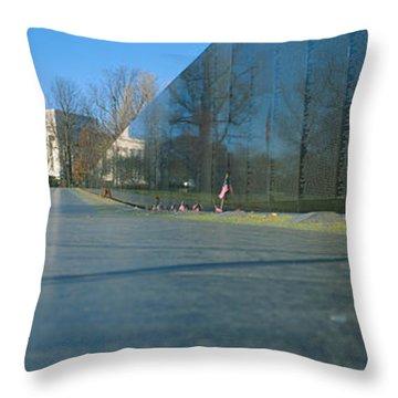 Vietnam Veterans Memorial, Washington Dc Throw Pillow by Panoramic Images