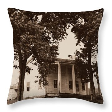 Throw Pillow featuring the photograph View 2 Homestead Forgotten by Deborah Fay