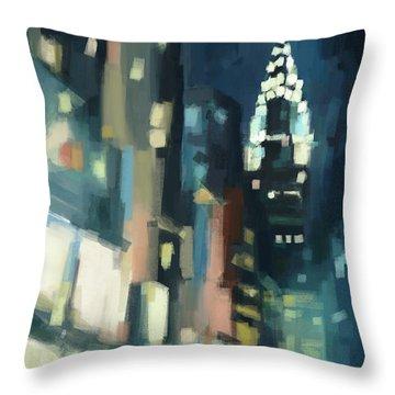 View Across 42nd Street New York City Throw Pillow