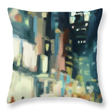 View Across 42nd Street New York City Throw Pillow by Beverly Brown