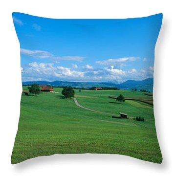 View Along Rural Hillside, Zurich Throw Pillow