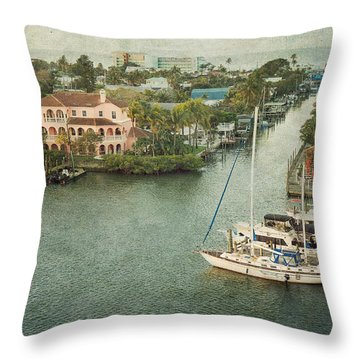 View At Fort Myers Beach - Florida Throw Pillow