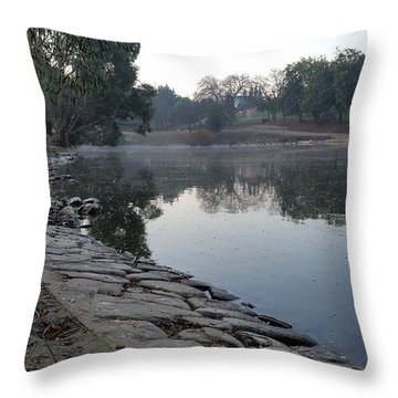 View By The Lake Throw Pillow