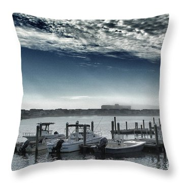 Throw Pillow featuring the photograph View From A Bridge by Phil Mancuso