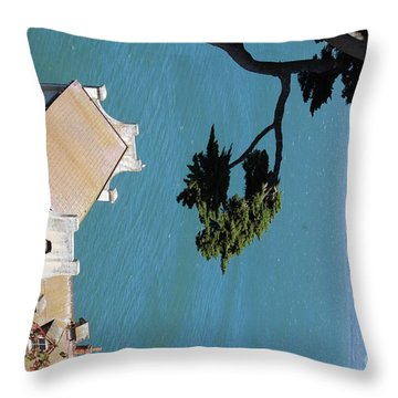 View From Alcatraz Throw Pillow by George Mount