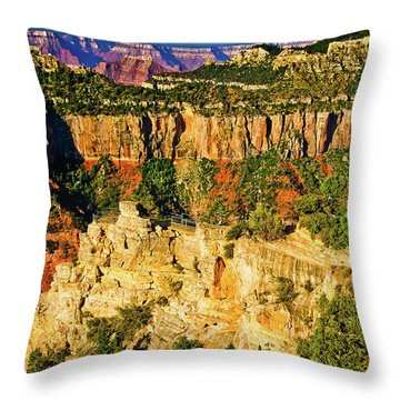 Throw Pillow featuring the photograph View From Angel Point  by Bob and Nadine Johnston