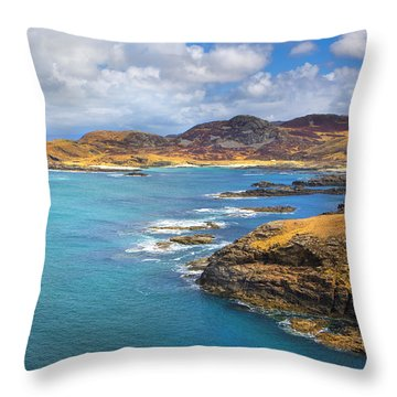 View From Ardnamurchan Throw Pillow by David Hare