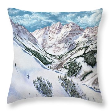 View From Aspen Highlands Throw Pillow