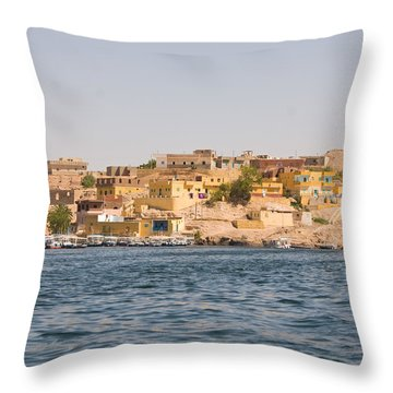 View From Boat Throw Pillow