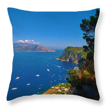 View From Capri Throw Pillow
