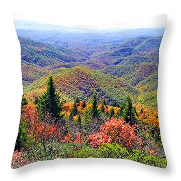 View From Devil's Courthouse Rock Throw Pillow