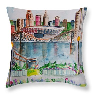 View From Devou Throw Pillow
