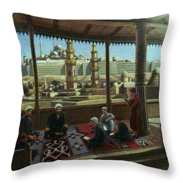 View From Egypt Throw Pillow